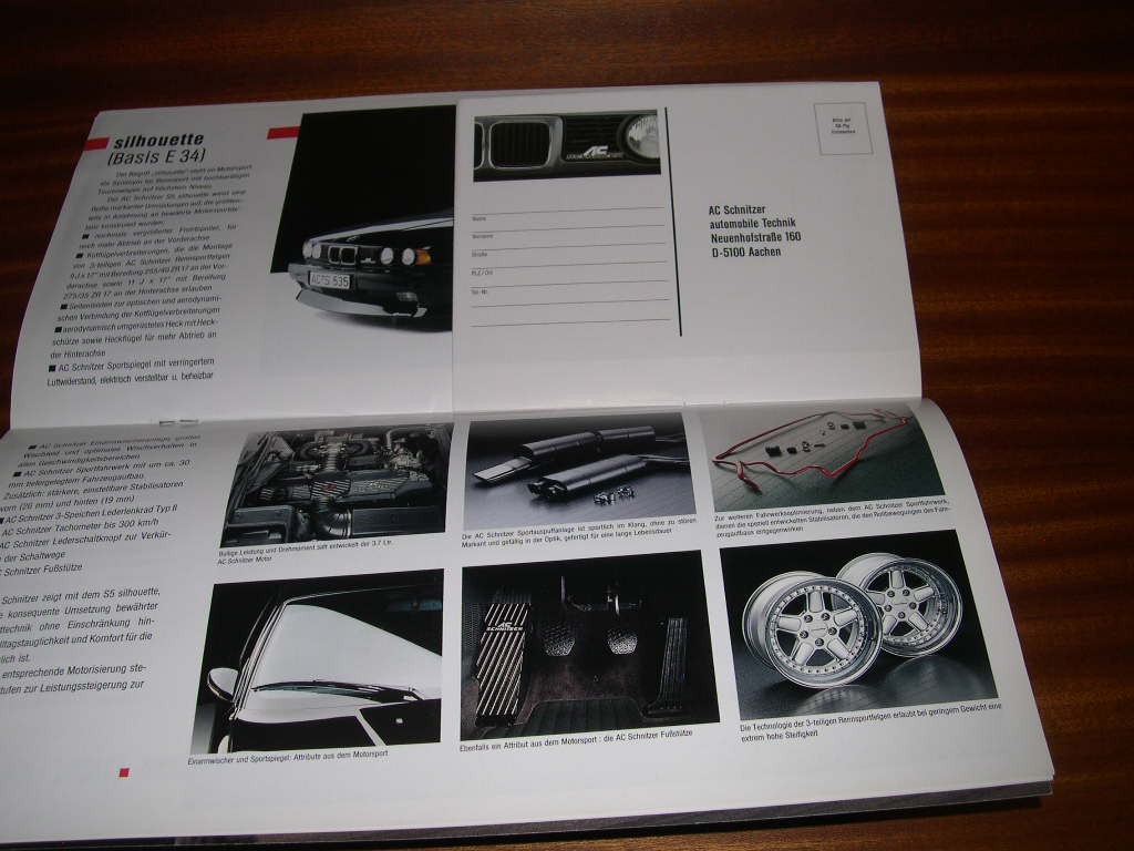 bmw ac schnitzer 3 e30 m3 m5 e32 z1 8 brochure catalog prospekt katalog depliant ebay. Black Bedroom Furniture Sets. Home Design Ideas